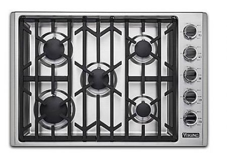 "Viking 30"" Professional 5 Series Stainless Steel Natural Gas Cooktop - VGSU53015BSS"