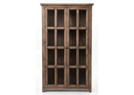 Four Hands Coast Collection Sundried Ash Irish Coast Large Display Cabinet - VICA-14-11
