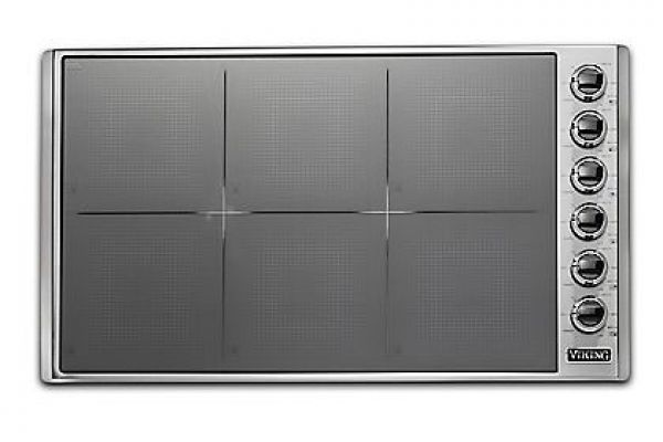 "Large image of Viking 36"" Professional 5 Series Stainless Steel All-Induction Cooktop - VICU53616BST"