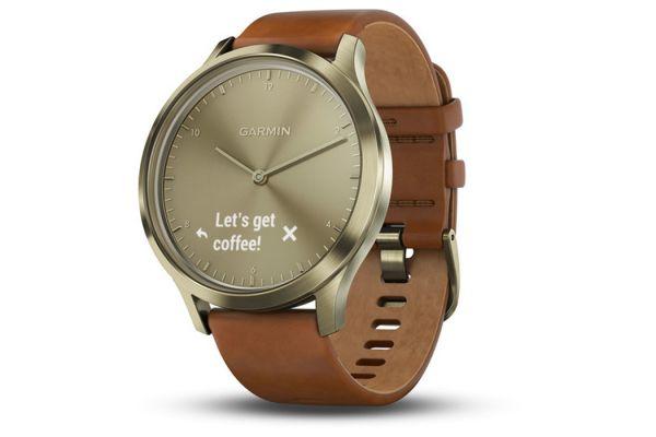 Garmin vivomove HR Small/Medium Gold Stylish Hybrid Smartwatch - 010-01850-15