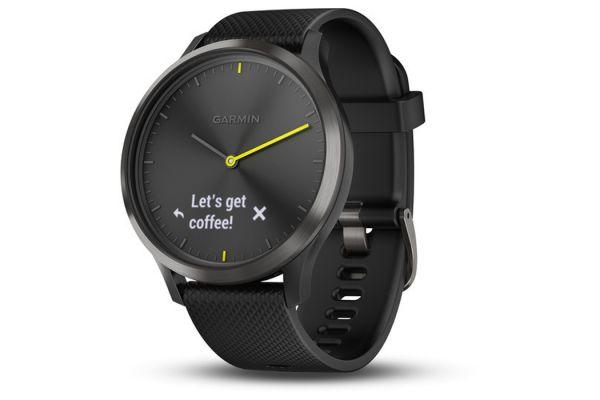 Large image of Garmin vivomove HR Large Black Stylish Hybrid Smartwatch - 010-01850-11
