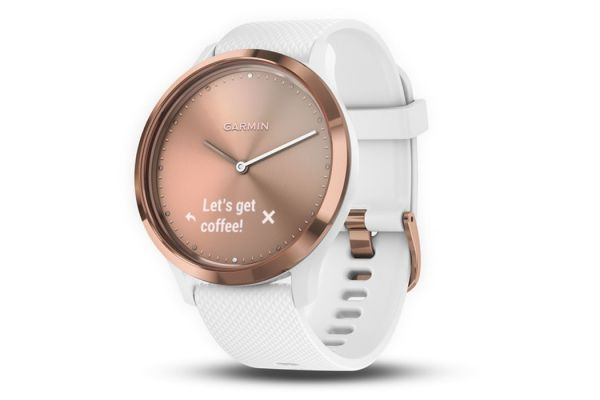 Garmin vivomove HR Small/Medium Rose Gold Stylish Hybrid Smartwatch - 010-01850-12