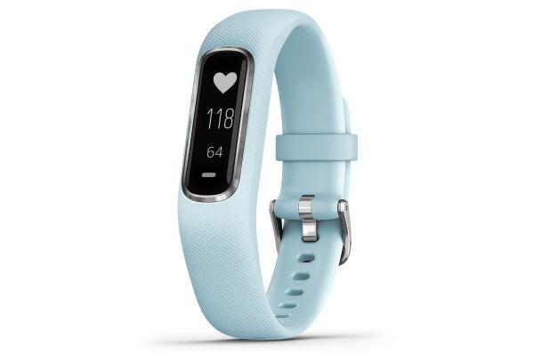 Garmin vivosmart 4 Small/Medium Azure Blue With Silver Hardware Activity Tracker - 010-01995-14