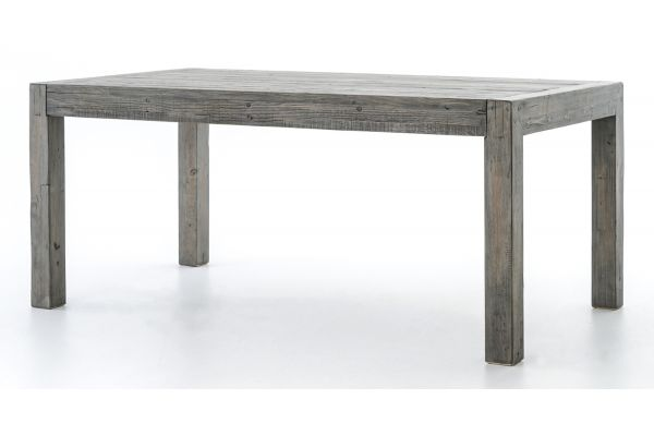 """Large image of Four Hands Black Olive 71"""" Post & Rail Dining Table - VPRD-01-55"""