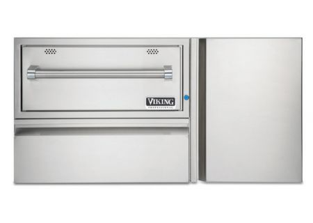 """Viking Professional Outdoor 42"""" W. Convenience Center with 30"""" W. Warming Drawer - VQEWD5420SS"""