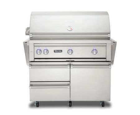 Viking 30 stainless propane gas grill vqgfs5300lss for Viking professional outdoor grill