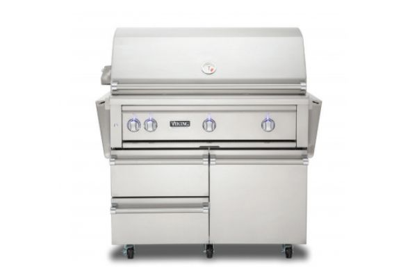 """Large image of Viking Professional 42"""" Stainless Steel Liquid Propane Grill  - VQGFS5420LSS"""