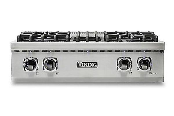"Large image of Viking 30"" Professional 5 Series Stainless Steel Gas Rangetop - VRT5304BSS"