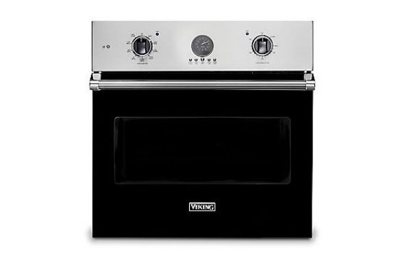 "Large image of Viking 30"" Professional 5 Series Black Premiere Single Wall Oven - VSOE530BK"