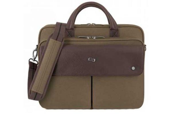 "Large image of Solo Executive 15.6"" Khaki Briefcase  - VTA330-11"