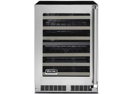"Viking 24"" Professional Stainless Steel Undercounter Wine Cellar - VWUI5240GLSS"