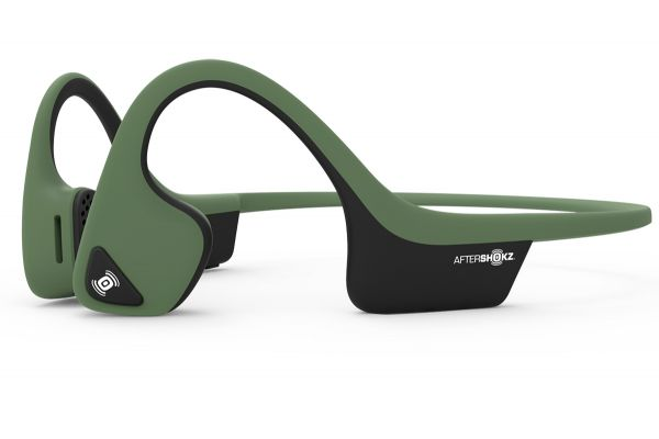 Large image of AfterShokz Trekz Air Forest Green Open Ear Wireless Headphones - VXLTREKZAIRGN