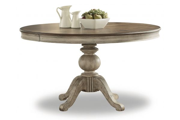 Large image of Flexsteel Plymouth Round Pedestal Dining Table - W1147-834