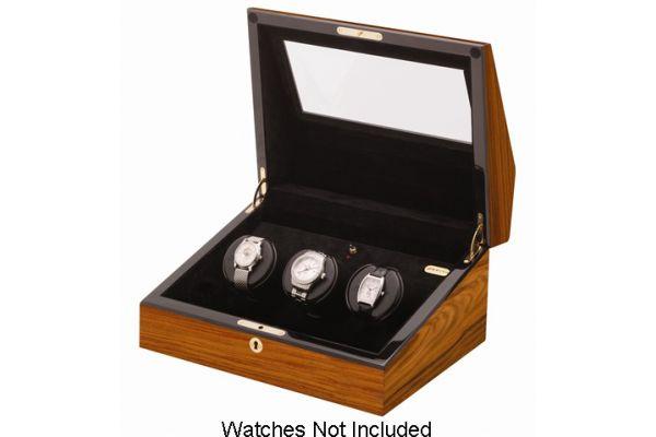 Large image of Orbita Siena Three Teak Programmable Watch Winder - W13000