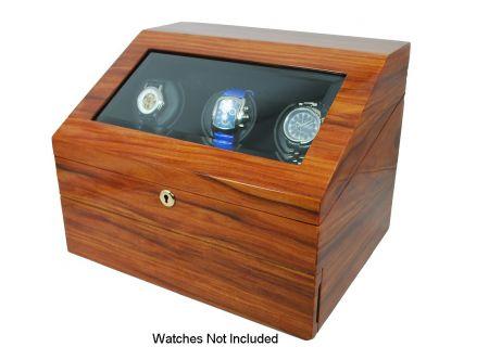 Orbita Siena Three Teak Executive Rotorwind Watch Winder  - W13029