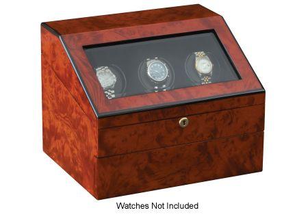 Orbita Siena Three Executive Burl Programmable Watch Winder  - W13030