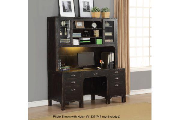 Flexsteel Homestead Subtle Black Credenza Desk - W1337-722