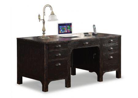 Flexsteel Homestead Subtle Black Executive Desk - W1337-734