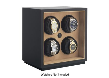 Orbita InSafe Four Black Leather Watch Winder  - W21500