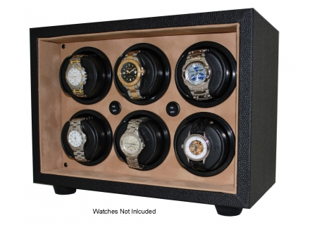 Orbita InSafe Six Black Leather Watch Winder  - W21600
