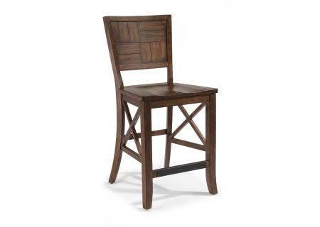 Flexsteel Carpenter Rustic Wood Counter Chair - W6722-846