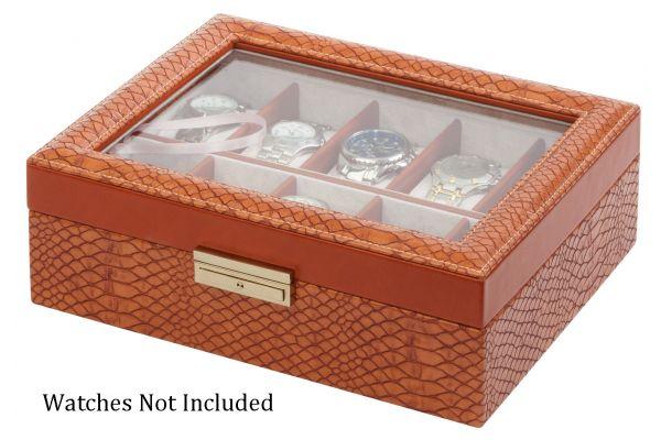 Large image of Orbita Roma Ten Lizard Leather Display Case Storage Box - W93010