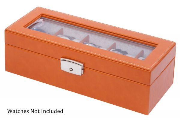 Orbita Roma Five Saddle Leather Display Case Storage Box - W93013