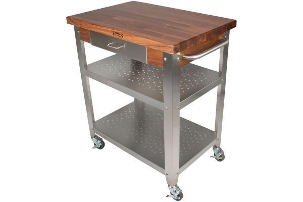 Large image of John Boos & Co. Walnut Cucina Elegante Kitchen Cart - WALCUCE30