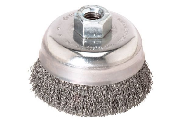 "Bosch Tools 3"" Cup Brush 5/8"" X 11"" Arbor Stainless Steel Knotted Wire - WB504"