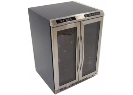 """Avanti 24 """" Stainless Side By Side Dual Zone Wine And Beverage Cooler - WBV19DZ"""