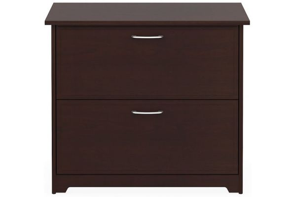 Large image of Bush Furniture Cabot Collection Harvest Cherry Lateral File  - WC31480-03