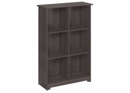 Bush Furniture Cabot Collection Heather Gray 6 Cube Bookcase  - WC31765-03