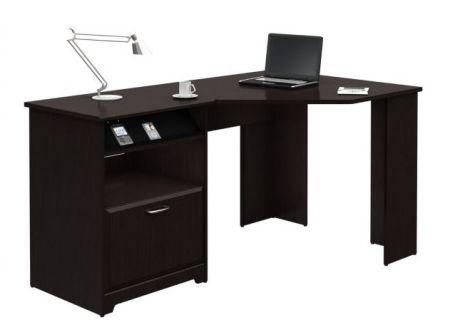 Bush Furniture Cabot Corner Desk in Espresso Oak - WC31815-03
