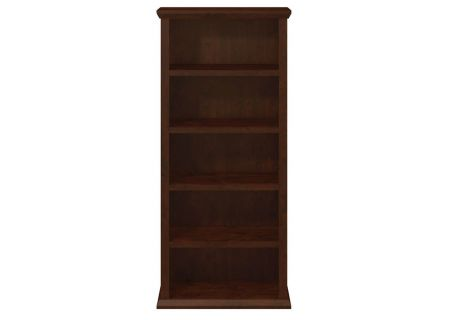 Bush Furniture Antique Cherry Yorktown Collection 30W 5-Shelf Bookcase - WC40366-03