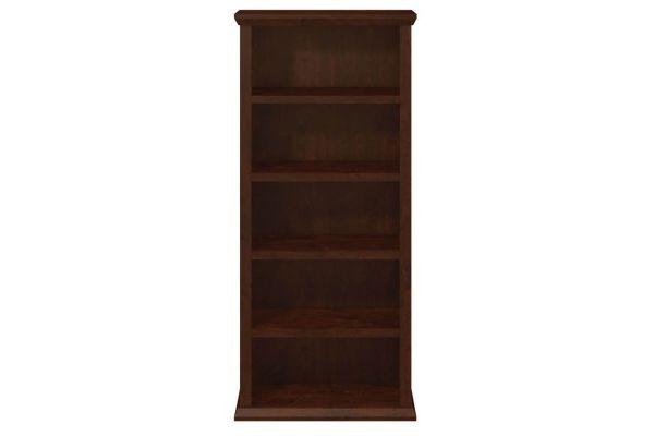 Bush Furniture Antique Cherry Yorktown Collection 30W 5-Shelf Bookcase - WC40366-03
