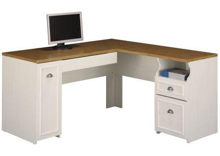 Bush Furniture Fairview Collection Antique White L-Desk - WC53230-03K