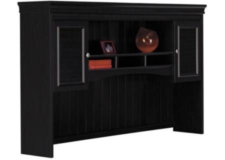 Bush Furniture Fairview Collection Antique Black L-Desk Hutch - WC53931-03