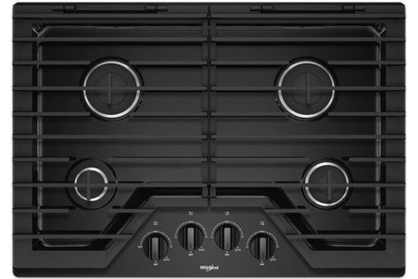 "Large image of Whirlpool 30"" Black Gas Cooktop - WCG55US0HB"