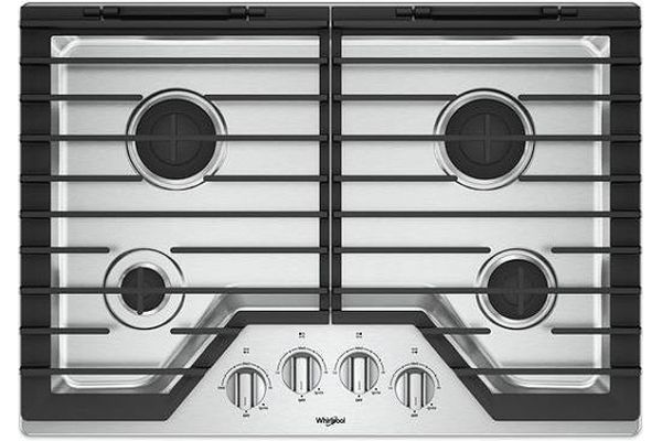 """Large image of Whirlpool 30"""" Stainless Steel Gas Cooktop - WCG55US0HS"""