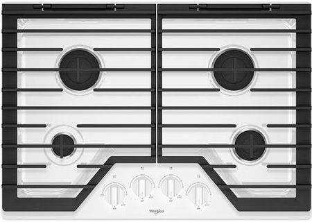 "Whirlpool 30"" White Gas Cooktop - WCG55US0HW"