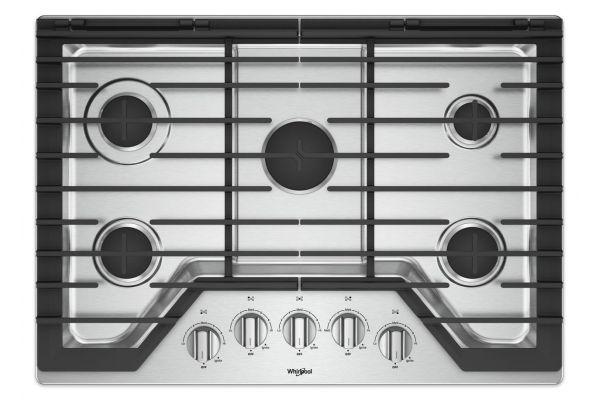 "Whirlpool 30"" Stainless Steel Gas Cooktop - WCG77US0HS"
