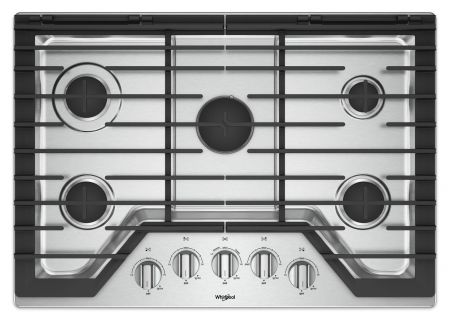 "Whirlpool 30"" Stainless Steel Gas Cooktop - WCG97US0HS"