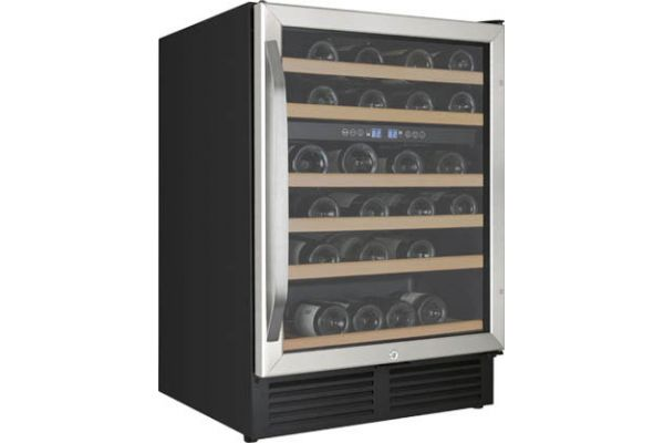 "Large image of Avanti 24"" Stainless Frame Built-In Dual Zone Wine Chiller - WCR496DS"