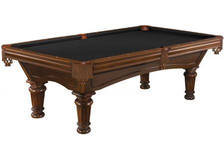 Brunswick Woodbury 8 Ft. Chestnut And Ebony Billiard Table Package  - WDB8-CH-RD-FG-EB