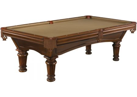 Brunswick Woodbury 8 Ft. Chestnut And Sahara Billiard Table Package  - WDB8-CH-RD-FG-SH