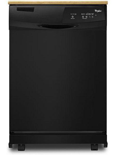 Whirlpool 24 Quot Black Portable Dishwasher Wdp350paab
