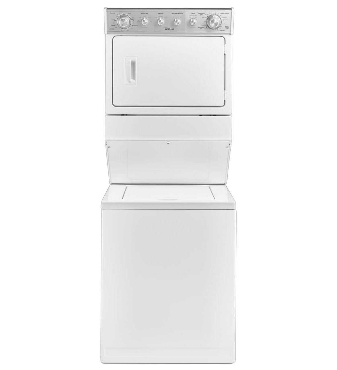 Whirlpool 27 stack washer and electric dryer wet4027ew - Secadora y lavadora juntas ...