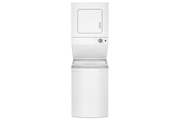 Large image of Whirlpool 1.6 Cu. Ft. 120V White Electric Stacked Laundry Center - WET4124HW