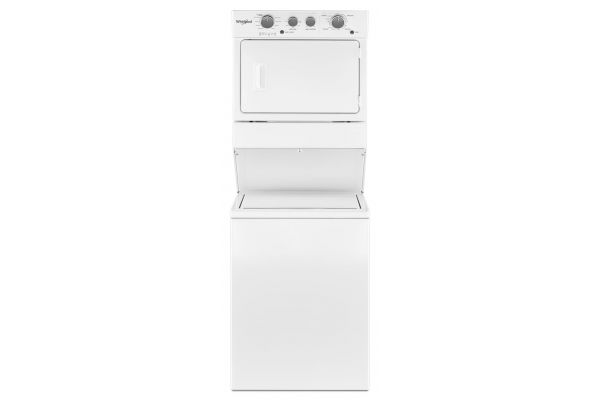 Whirlpool 3.5 Cu. Ft. White Electric Stacked Laundry Center - WETLV27HW