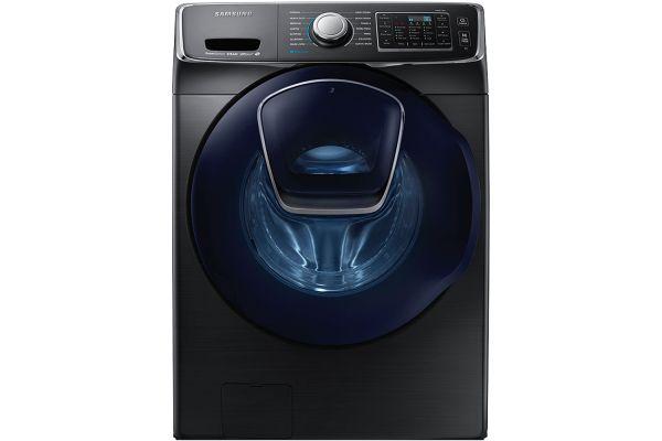 Samsung Fingerprint Resistant Black Stainless Steel Front Load Steam Washer - WF45K6500AV